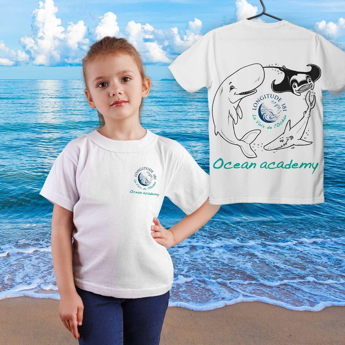 Tshirt Ocean academy enfant
